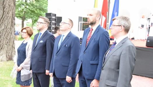 Урочистий прийом на честь 228-ї річниці підписання Конституції 3 Травня та 450-ї річниці Люблінської унії.